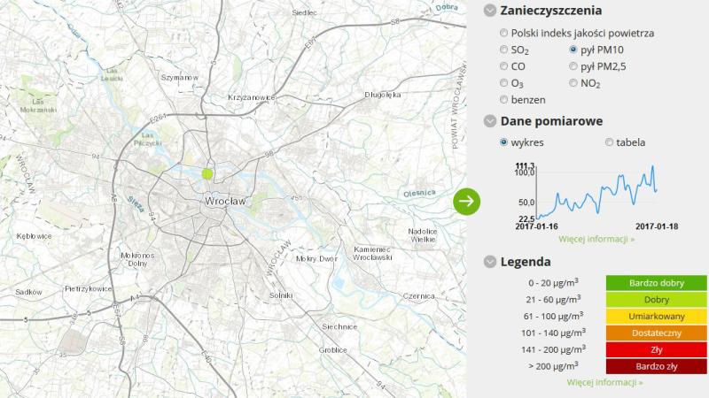 Jakość powietrza we Wrocławiu