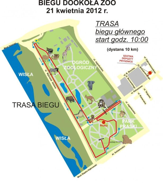 Trasa biegu mat. organizatora