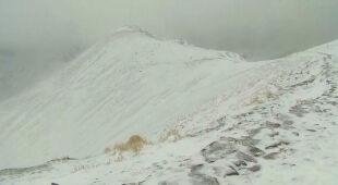 Na Kasprowym Wierchu leży kilkanaście centymetrów śniegu