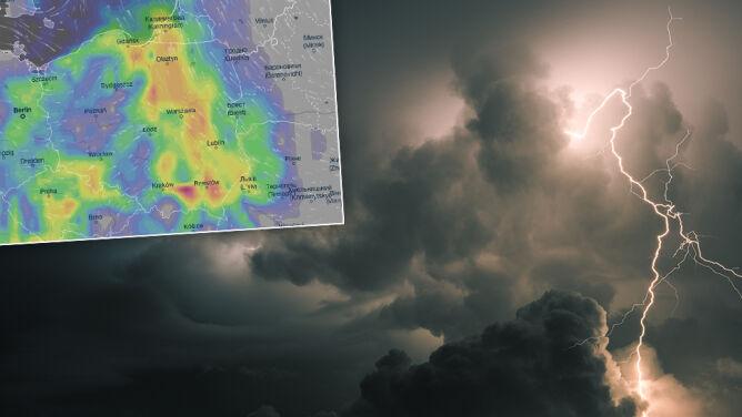 Gwałtowny koniec sierpnia. <br />Upał, burze z gradem i porywisty wiatr