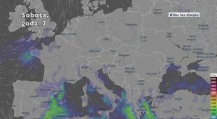 Potencjalny rozwój burz w ciągu dni w Europie (Ventusky.com)