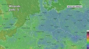 Prognozowana temperatura w Niemczech w ciągu dwóch kolejnych dni (Ventusky)